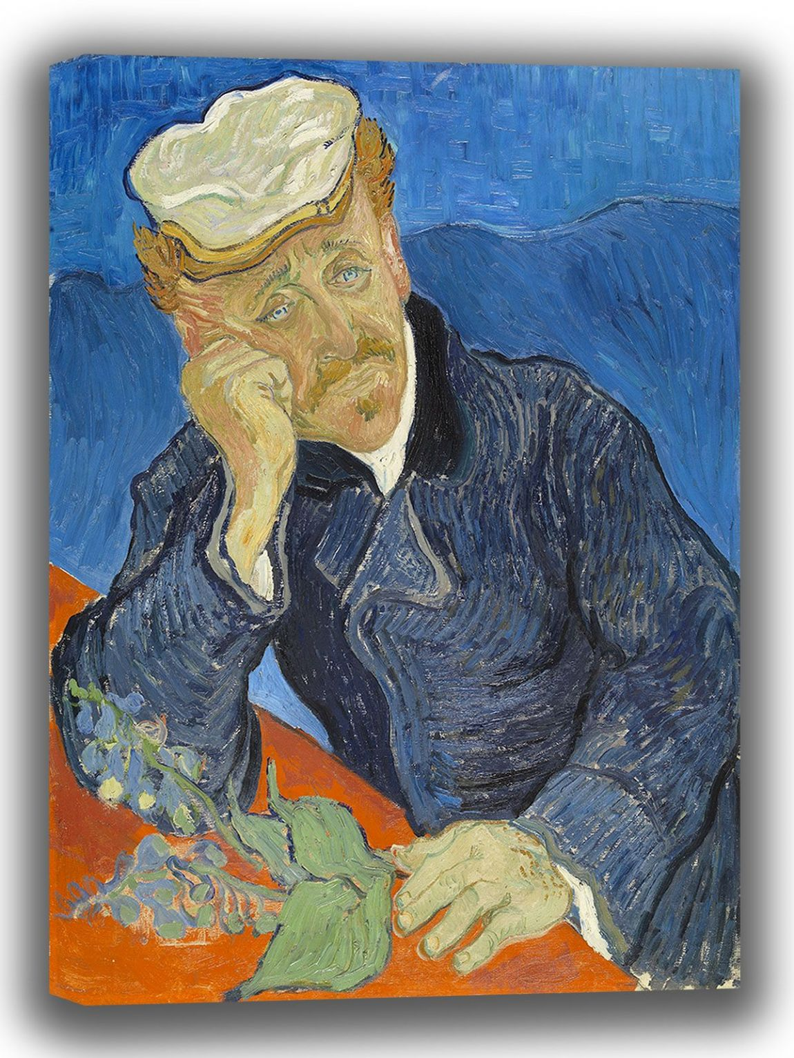 Van Gogh, Vincent: Dr Paul Gachet. Fine Art Canvas. Sizes: A4/A3/A2/A1 (003912)